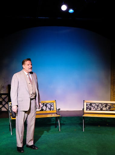 """Tom Kremer and Carol Hanscom star in """"Do You Turn Somersaults?"""" at Cider Mill Stage in Endicott."""