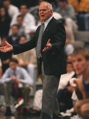 Former Michigan State coach Jud Heathcote.