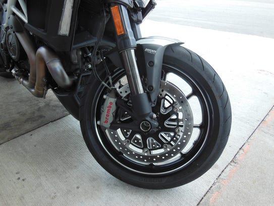 Brembo brakes offer superb stopping power.