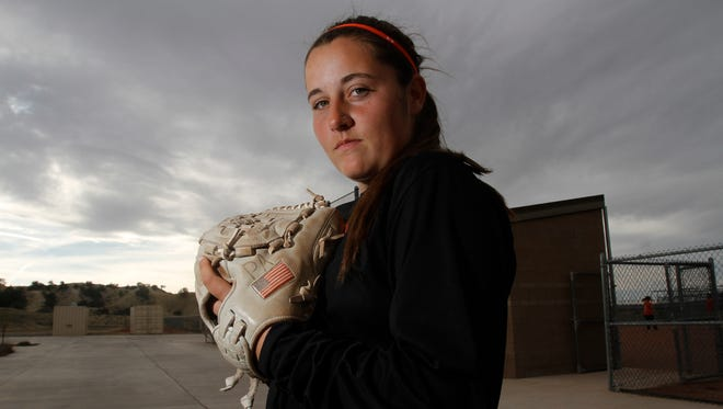 Aztec High School's Paige Adair poses for a portrait on Monday at Aztec Tiger Sports Complex.