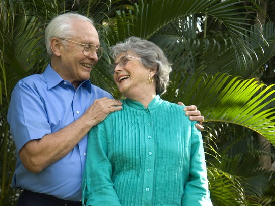 John Sheppard and his wife of 63 years, Ellen.