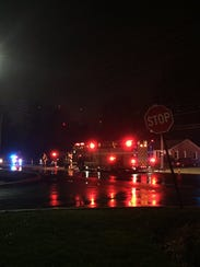 This was the scene in East Manchester Township when