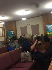 About 40 people attended a meeting Tuesday night at