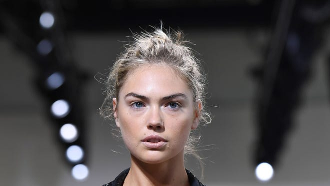 Model Kate Upton walks the runway for the Michael Kors Collection Spring 2018 Runway Show during New York Fashion Week.