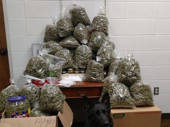 Nebraska sheriff's deputies found 60 bags of marijuana