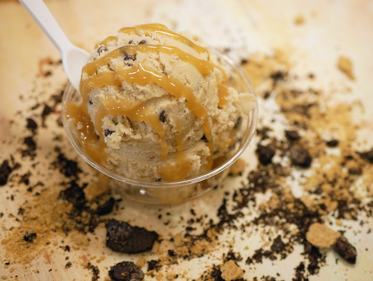 Caramel cookie cough at Dough Life.