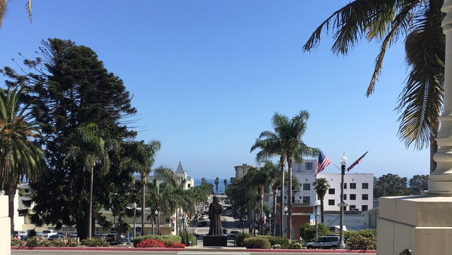 The view into downtown Ventura.