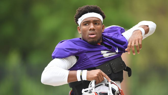 Clemson quarterback Kelly Bryant (2) during practice on Monday, August 8, 2016.