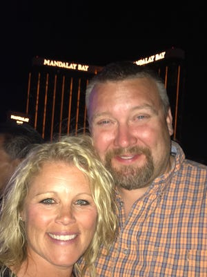 Brianne and Marc Thoreson attended the Route 91 Harvest Festival in Las Vegas.