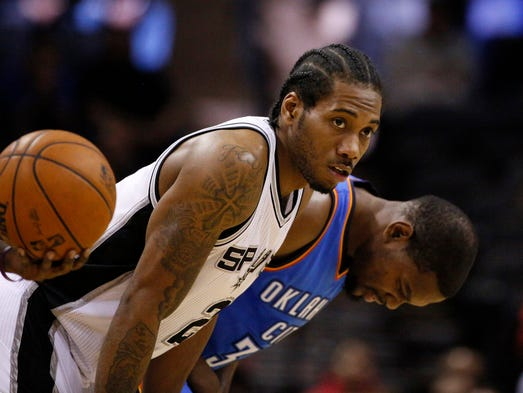 Spurs forward Kawhi Leonard faces the impossible task of stopping Thunder forward Kevin Durant in the West finals. But he'll have help. USA TODAY Sports' Adi Joseph ranks every player on both rosters.