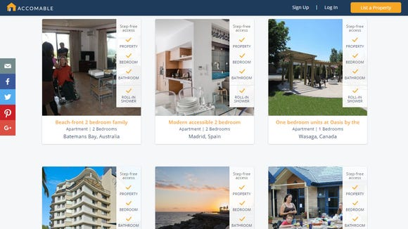 new site lists vacation rentals for disabled travelers