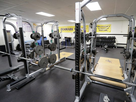 The weight room at Denmark High School is among the