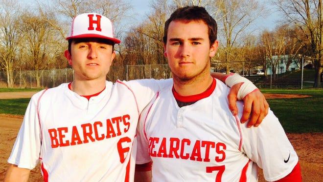 Hendersonville's Austin Redden, left, and Justin Sparks.