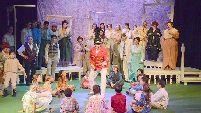 Full cast of The Music Man at the Palm Canyon Theatre.