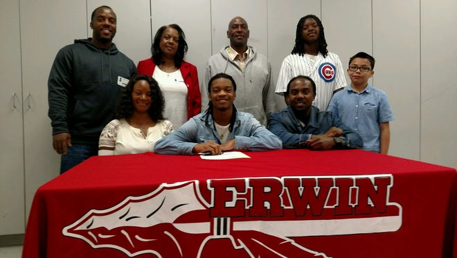 Erwin senior C.J. Thompson has signed to play college football for Mars Hill.