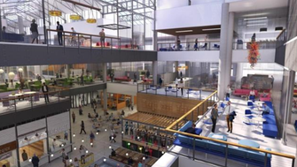 The Grand Avenue mall's redevelopment plans include a dramatic remaking of its atrium.