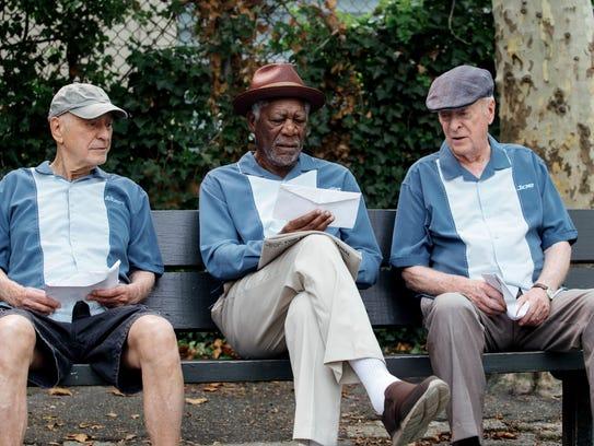 Alan Arkin, Morgan Freeman and Michael Caine appear