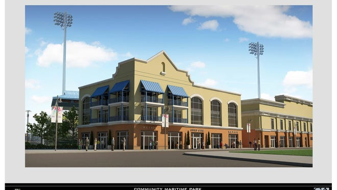 The design committee of the Community Maritime Park Associates approved the preliminary conceptual designs proposed by Quint Studer for parcels 3, 6 and 9. Parcel 3 could house child care and a sports museum.