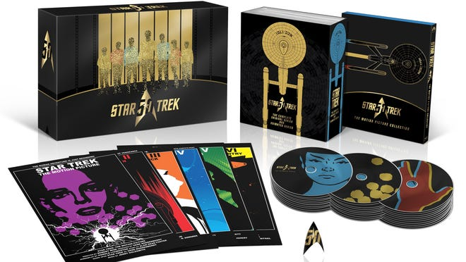 "After ""Star Trek Beyond,"" go back to the beginning with the ""Star Trek 50th Anniversary TV and Movie Collection,"" due Sept. 6. Preorder for $208.99 at amazon.com."