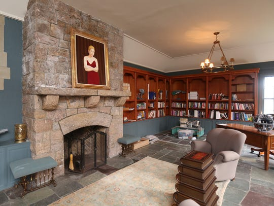 The library in the 1920 Tudor home on Purchase Street.