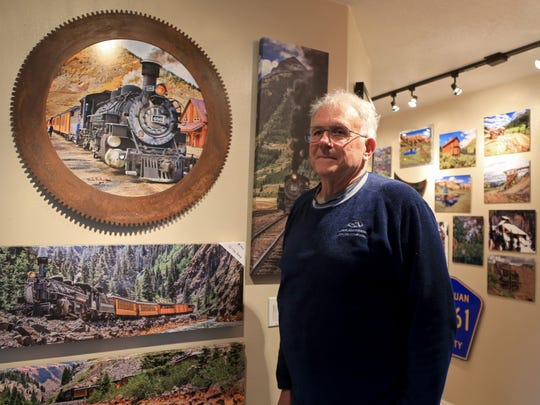 The walls of Duke Breitenbach's Ivins City home are covered with his vibrant photographs. He was among the artists who opened their home studios for the Arts to Zion Art and Studio Tour last weekend.