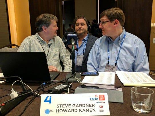 USA TODAY Sports' Steve Gardner, left, and Howard Kamen,