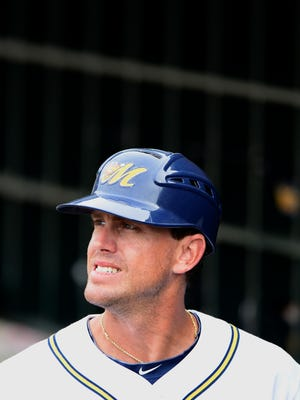 Montgomery Biscuits manager Brady Williams during the Mobile BayBears game at Riverwalk Stadium in Montgomery, Ala. on Sunday June 22, 2014.