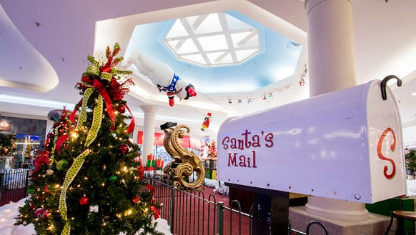 Easdale Mall Christmas decorations are shown at the