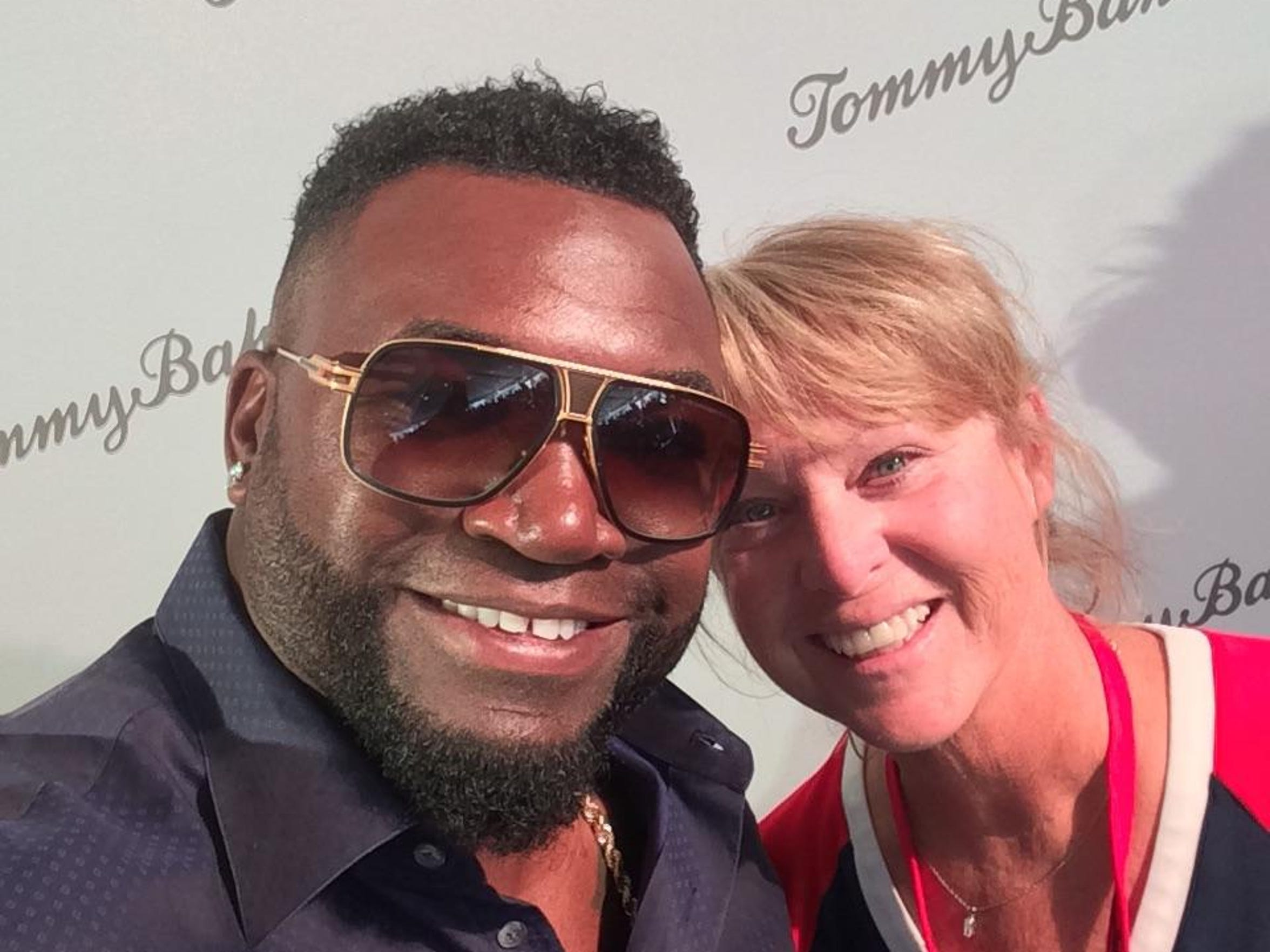 David Ortiz snaps a selfie with Kathleen Paton, a part-time Sanibel Island resident, at a fundraiser for the David Ortiz Children's Fund.