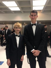 Student-musicians Nate Lewis and Ian McKimm.