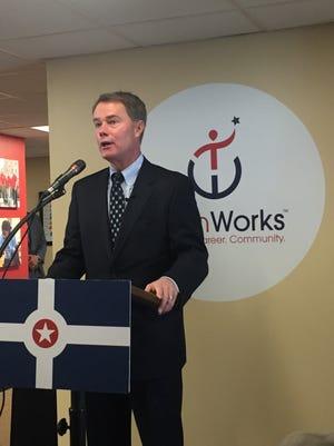 Mayor Joe Hogsett announced plans for his teen summer jobs program Wednesday at TeenWorks.