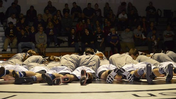 Robbinsville won the NCHSAA 1-A dual team wrestling championship on Saturday in its home gym.
