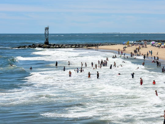 The Ocean City beach was crowded with kids and adults