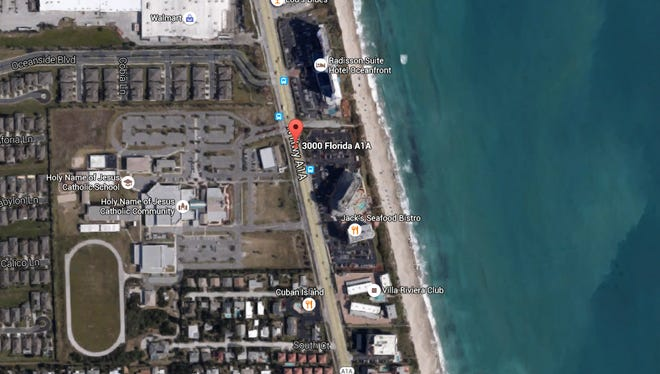 Two people were injured after falling from scaffolding on the 3000 block of Highway A1A in Melbourne.