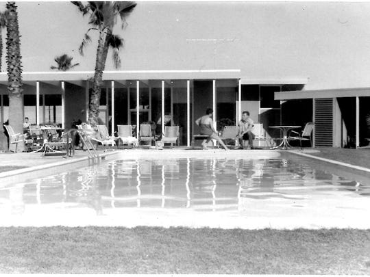 Whispering Waters pool, July 1958. (Photo courtesy of Melissa Riche)