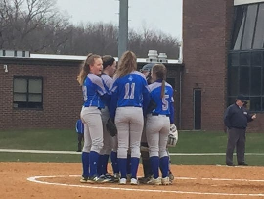 The Sayreville softball team plays against North Brunswick