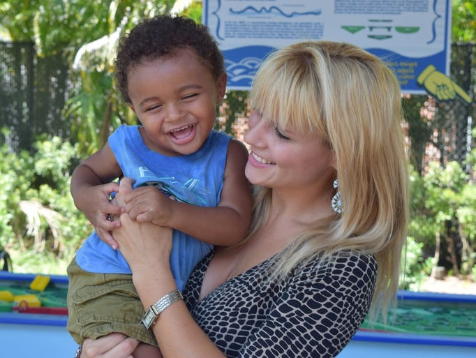 Sarah Guerrier with son, Blake at the Imaginarium Birthday Bash