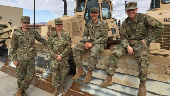 Fort Bliss' best sappers are all from the 16th Engineer Battalion. From left, they are 2nd Lt. Kyle Csorba, 1st Lt. Mitch Blackgrove, Sgt. Noah Reiter and 1st Lt. Greg Frechette.