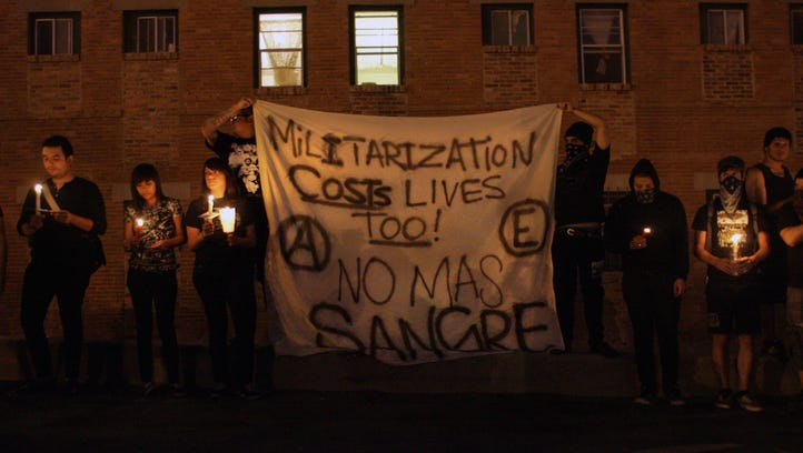 Protesters in El Paso held a candlelight vigil in June