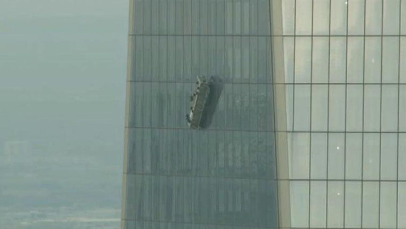 Window washers rescued from 68 floors up at 1 world trade for 12 x 72 window