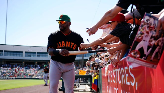 Giants third baseman Pablo Sandoval came into spring training at about 250 pounds, or 30 lighter than last year, when he spent time on the disabled list.