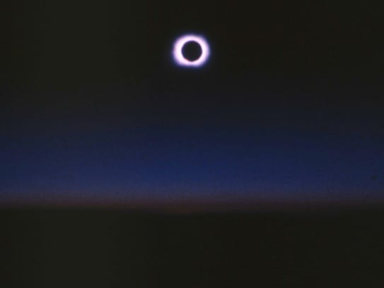 Jack Carte shot this photograph of the total eclipse