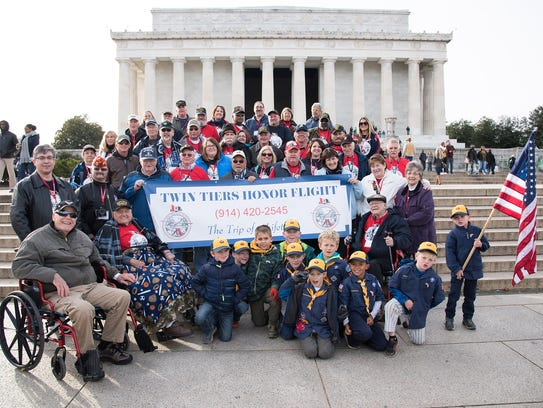 Twin Tiers Honor Flight took a group of veterans to