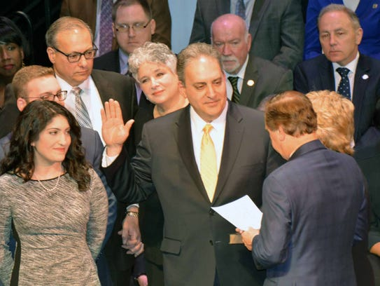 Assemblyman Roy Freiman is sworn in to office Tuesday
