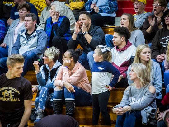 The Nash family attends Monroe Central's game against