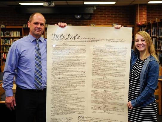 Student Stephanie Boltz, left, and Mentor Stefan Wentling