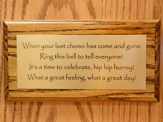 The saying underneath the bell that Thomas Harris rang