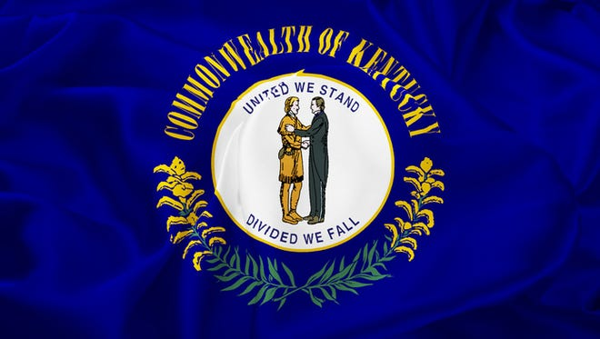 Kentucky Flag: United We Stand - Divided We Fall.