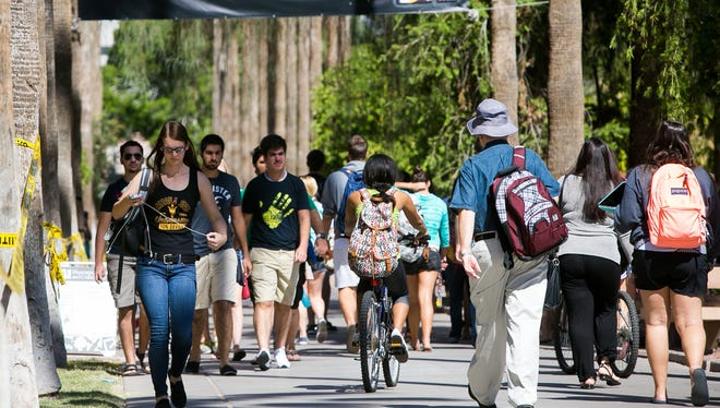 Arizona university officials for the past decade have blamed hefty state funding cuts for nearly annual increases in tuition.