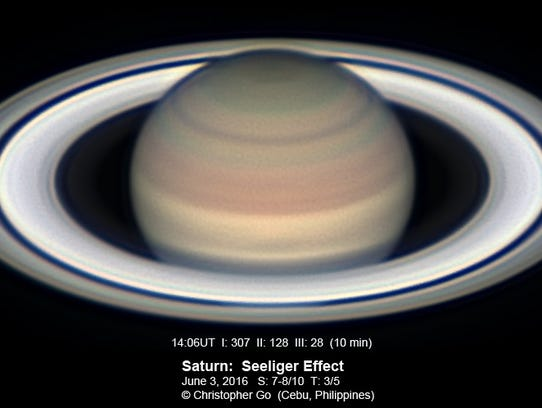 An image of Saturn captured on June 3 from the Philippines.